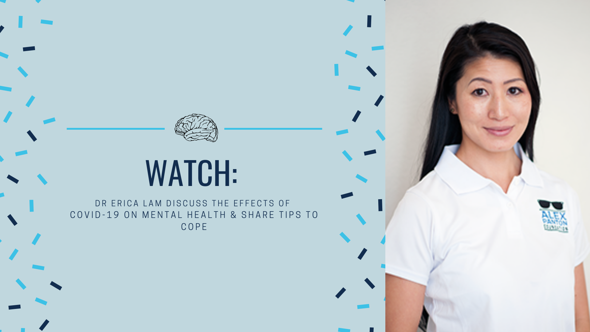 WATCH: Dr Erica Lam discuss the effects of  COVID-19 on mental health & share tips to cope