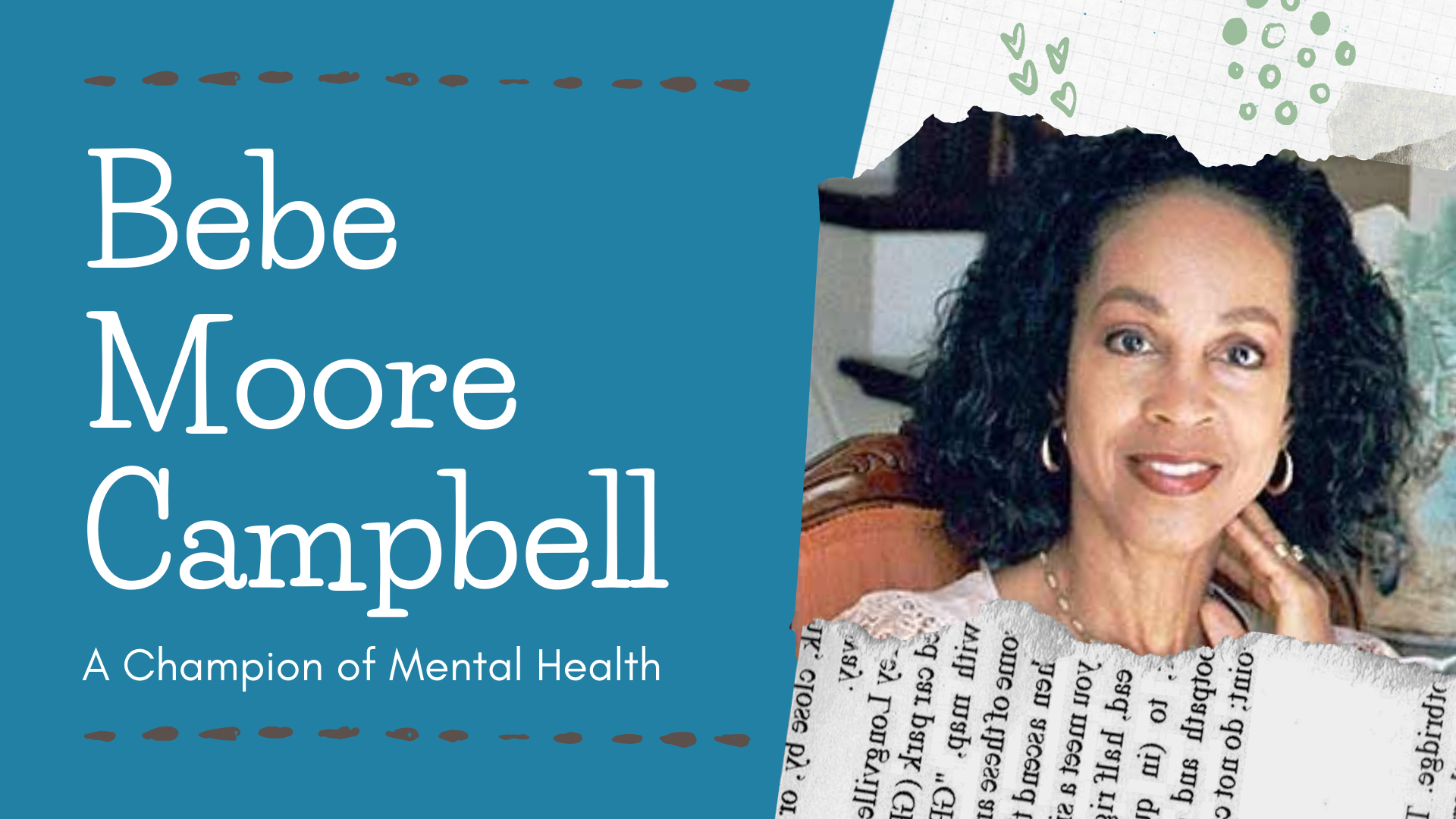Bebe Moore – a Champion of Mental Health